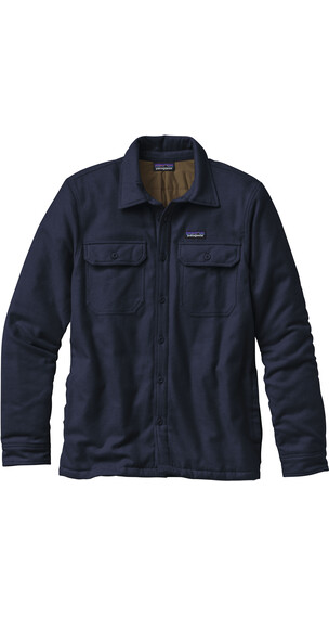 Patagonia M's Fjord Insulated Flannel Jacket Navy Blue